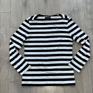 Club Monaco Black White Stripe Short Small